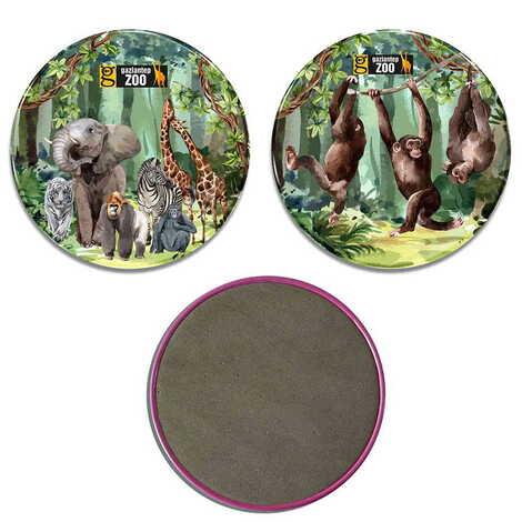 Hayvanat Bahçesi Temalı Myros Metal Bardak Altlığı 90 mm