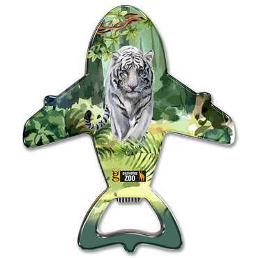 Hayvanat Bahçesi Temalı Myros Metal Uçak Açacak Magnet 105x89 mm - Thumbnail
