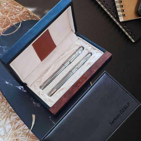 İsme Özel Metal İkili Tükenmez Kalem Seti