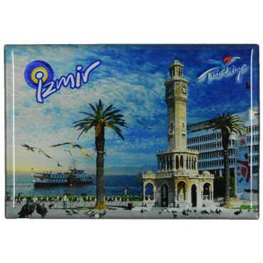 İzmir Temalı Myros Dikdörtgen Magnet 80x55 mm - Thumbnail