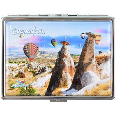 Kapadokya Temalı Myros Metal Cep Küllük 50x15 mm - Thumbnail