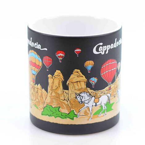 Kapadokya Temalı Seramik Renkli Baskılı Kupa 82x90 mm