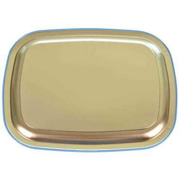 Kaş Bölgesi Temalı Myros Metal Resimli Tepsi 305x235 mm - Thumbnail