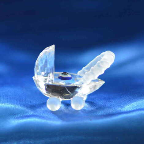Kristal Küçük Bebek Arabası Biblo