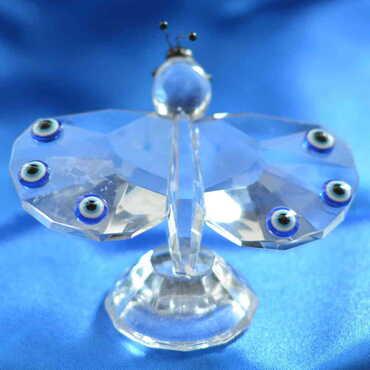 Kristal Orta Kelebek Biblo - Thumbnail