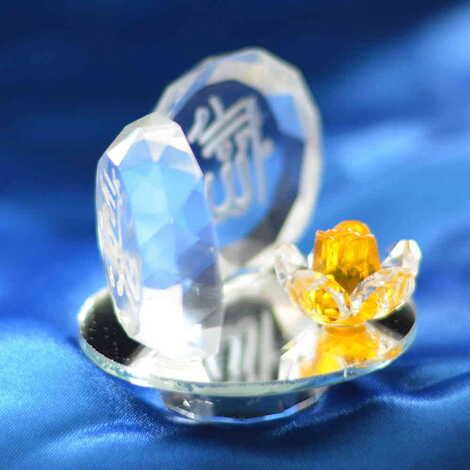 Kristal Tabakta İkili Ayet Biblo