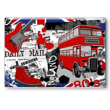 Londra Temalı Myros Dikdörtgen Magnet 80x55 mm - Thumbnail