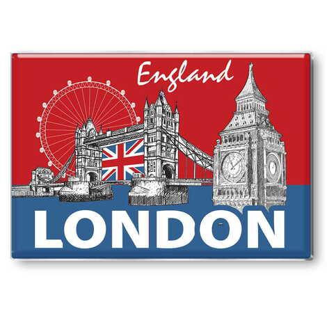Londra Temalı Myros Dikdörtgen Magnet 80x55 mm