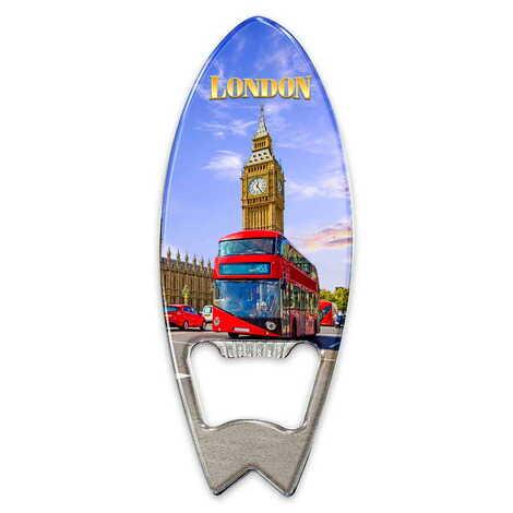 Londra Temalı Myros Metal Sörf Açacak Magnet 128x45 mm