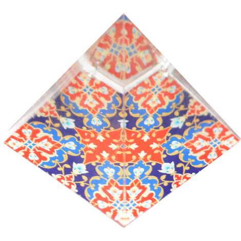 Mandala Temalı Piramit Kağıt Ağırlığı 5 cm