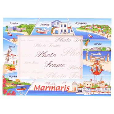 Marmaris Bölgesi Temalı Myros Fotoğraf Çerçevesi 10x15 cm - Thumbnail