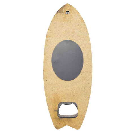Marmaris Temalı Myros Ahşap Sörf Tahtası Açacak Magnet 185x72 mm