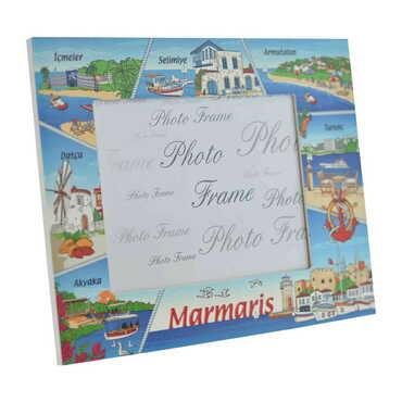 Marmaris Temalı Myros Fotoğraf Çerçevesi 13x18 cm - Thumbnail