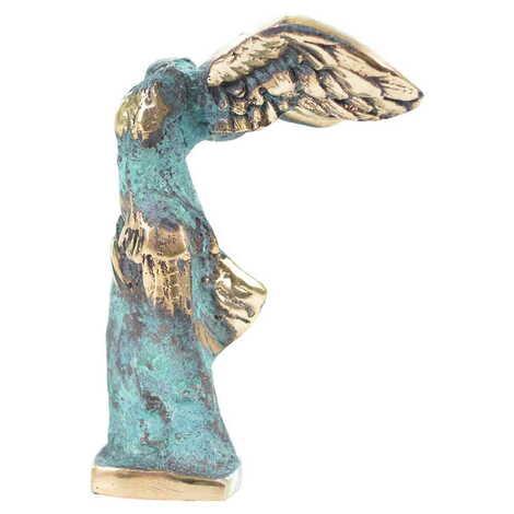 Myros Bronz Heykel Nıke 14 cm