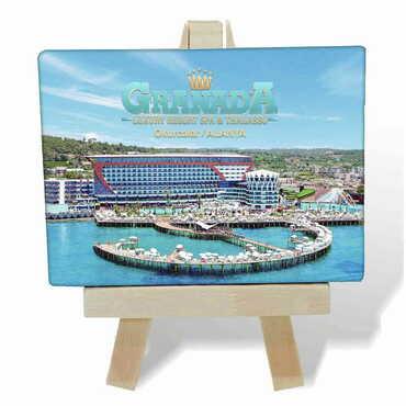 Otel Temalı Kanvas Şövale Tablo 70x100 mm - Thumbnail