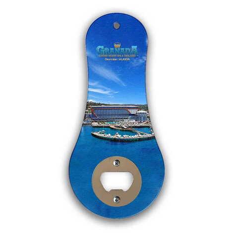 Otel Temalı Myros Ahşap Klasik Açacak Magnet 170x79 mm