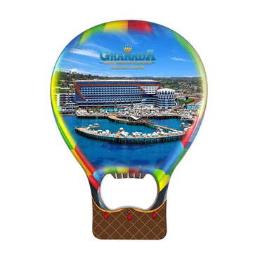 Otel Temalı Myros Metal Balon Açacak Magnet T 102x73 mm - Thumbnail
