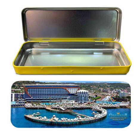 Otel Temalı Myros Metal Kalem Kutusu 210x80x25 mm