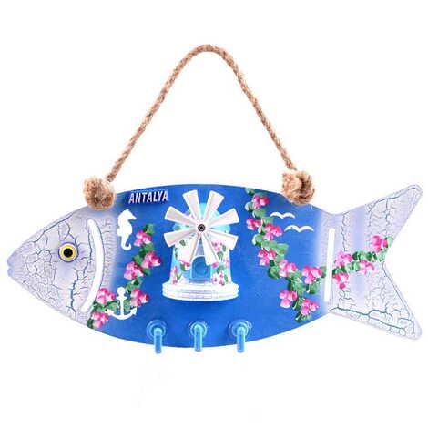 Özelleştirilebilir Marin Balık Anahtarlık Askısı