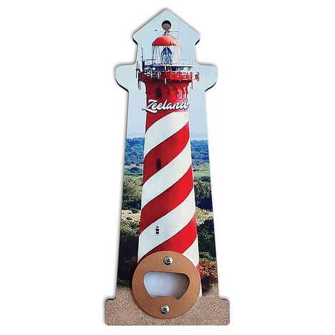 Özelleştirilebilir Myros Ahşap Deniz Feneri Açacak Magnet 188x77 mm
