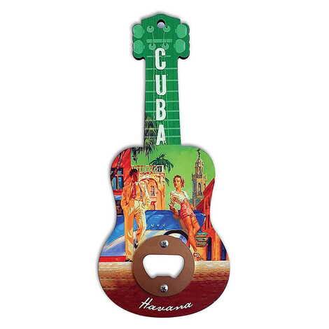 Özelleştirilebilir Myros Ahşap Gitar Açacak Magnet 200x89 mm