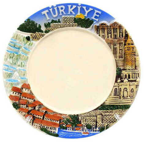 Özelleştirilebilir Seramik Myros Türkiye Tabak 15 cm