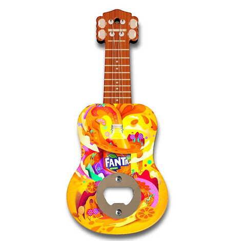Promosyon Myros Ahşap Gitar Açacak Magnet 200x89 mm