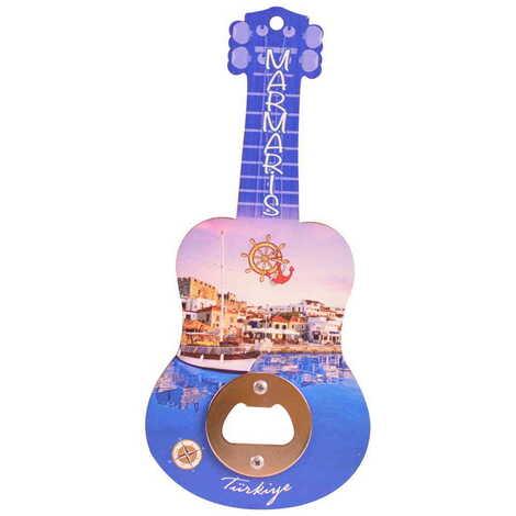 Şehre Özel Myros Ahşap Gitar Açacak Magnet 200x89 mm