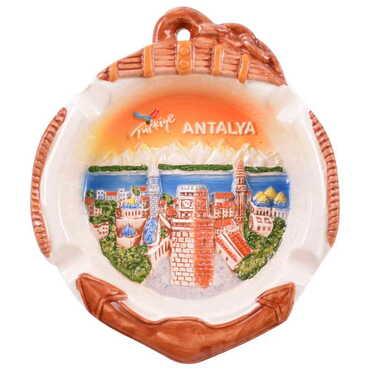 Seramik Antalya Çapa Turuncu Küllük - Thumbnail