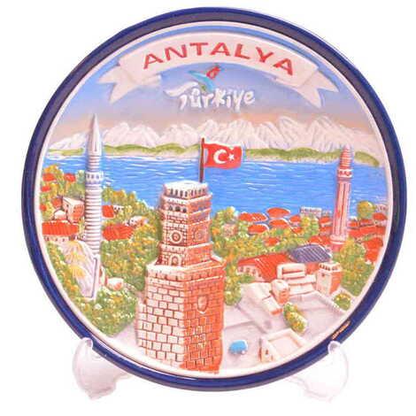 Seramik Antalya Mavi Tabak 15 cm
