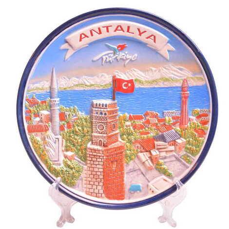 Seramik Antalya Mavi Tabak 20 cm