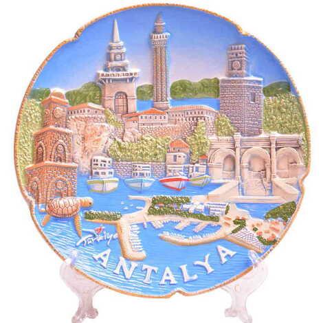 Seramik Antalya Mix Tabak 20 cm