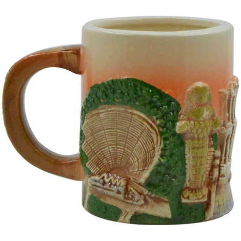 Seramik Efes Kahverengi Kupa