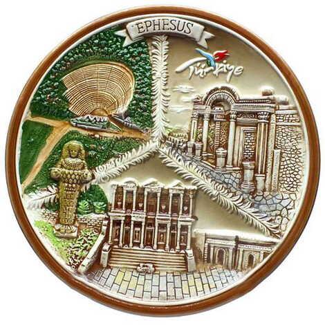 Seramik Efes Kahverengi Tabak 20 cm