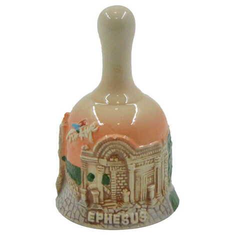 Seramik Efes Küçük Kahverengi Çan