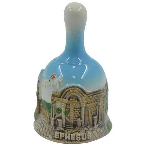 Seramik Efes Küçük Mavi Çan