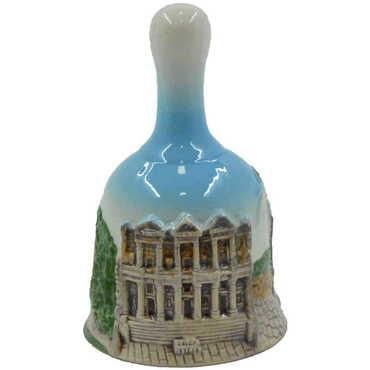 Seramik Efes Küçük Mavi Çan - Thumbnail