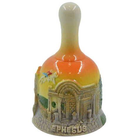 Seramik Efes Küçük Turuncu Çan