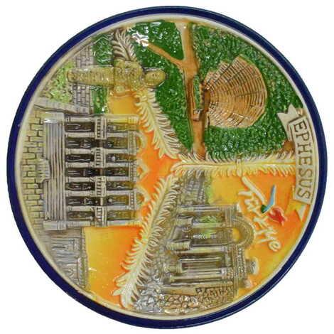 Seramik Efes Turuncu Tabak 15 cm
