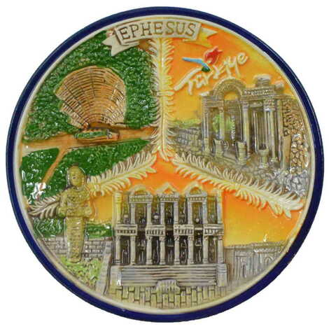 Seramik Efes Turuncu Tabak 20 cm