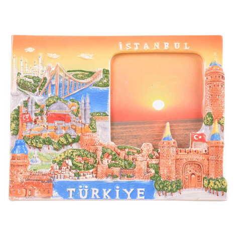 Seramik İstanbul Kahverengi Fotoğraf Çerçevesi