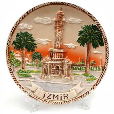 Seramik İzmir Kahverengi Tabak 15 cm