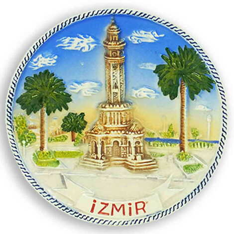 Seramik İzmir Mavi Tabak 10 cm