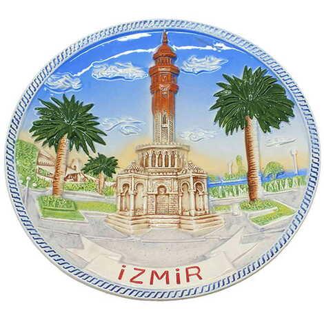 Seramik İzmir Mavi Tabak 15 cm