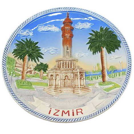 Seramik İzmir Mavi Tabak 20 cm