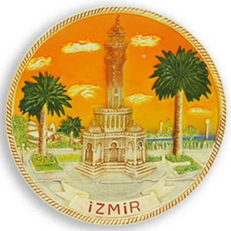 Seramik İzmir Turuncu Tabak 10 cm