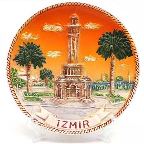 Seramik İzmir Turuncu Tabak 15 cm