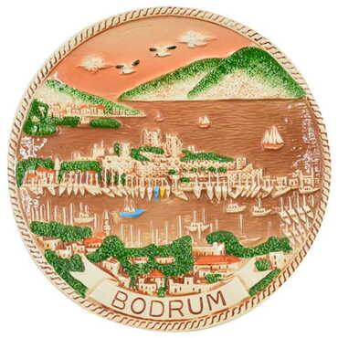 Seramik Kahverengi Bodrum Tabak 20 cm - Thumbnail