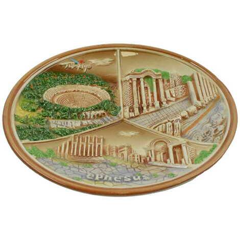 Seramik Kahverengi Efes Tabak 20 cm