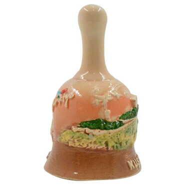 Seramik Kuşadası Kahverengi Küçük Çan - Thumbnail